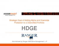 HDGE Investor Presentation