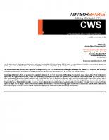 CWS Prospectus
