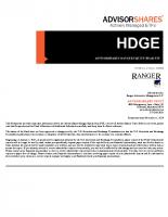 HDGE Prospectus