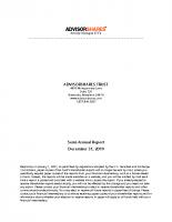 AdvisorShares SemiAnnual Dec 31 2019