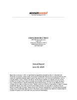 AdvisorShares Annual Report June 30 2020