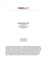 AdvisorShares Annual Report June 30 2021